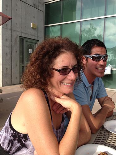Lisa and Ray at beer hour