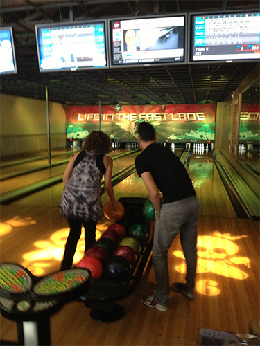 The Bennett lab goes bowling